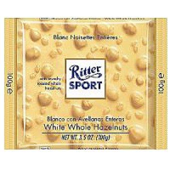Ritter Sport Chocolatina Blanca con avellanas enteras 100 Gr