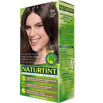 Naturtint Tinte castaño claro 5N color permanente sin amoniaco caja 1 unidad Caja 1 unidad