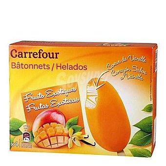 Carrefour Helado bombón de frutas exóticas y vainilla 4 ud