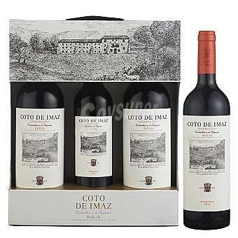 """Coto de Imaz Lote 87: Estuche de 2 vinos D.O. Ca. """"rioja"""" tinto reserva + regalo vino 50 cl. Pack 2x75 cl"""