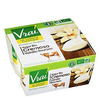 Vrai Yogur cremoso vainilla Pack de 4x100 g