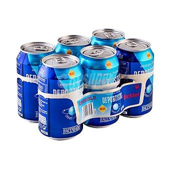 Hacendado Bebida isotonica natural Lata pack 6 x 330 ml - 1980 ml
