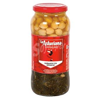 La Asturiana Garbanzos y espinacas Frasco 400 gr