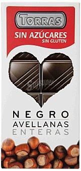 Torras Chocolate Negro con Avellanas Sin Azúcar 150 g