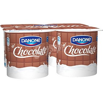 Danone Yogur sabor chocolate Pack 4 unidades 130 g
