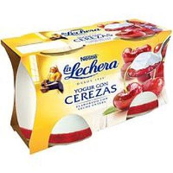 La Lechera Nestlé Yogur enriquecido de cereza Pack 2x125 g