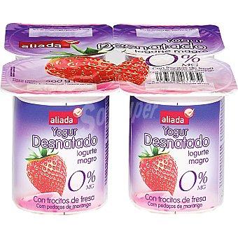 Aliada Yogur desnatado con fresa Pack 4x125 g