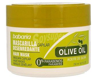 Babaria Mascarilla capilar desenredante con aceite de oliva Tarro 250 ml