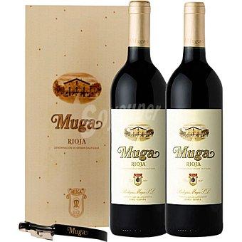 MUGA vino tinto crianza + sacacorchos y antigoteo Estuche 2 botellas 75 cl