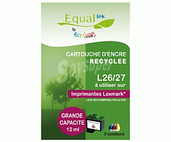 Equalink Cartuchos Reciclados de Tinta L26-27 Color 1u