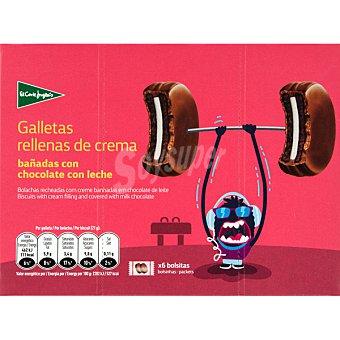 Aliada Galletas rellenas de crema bañadas en chocolate con leche 6 bolsitas de 2 unidades (estuche 252 g)