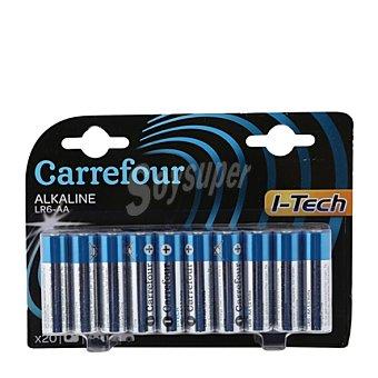 Carrefour Pilas itech LR06 larga duración 20 ud