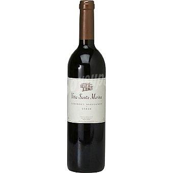 VIÑA SANTA MARINA Vino tinto cabernet sauvignon y syrah de Extremadura  Botella de 75 cl