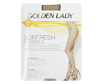 GOLDEN LADY Sunfresh Panty invisible efecto bronceado, 10 den, L