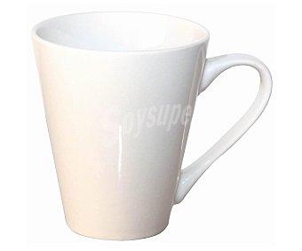 PRODUCTO ECONÓMICO ALCAMPO Mug o taza con asa para desayunos modelo 611312 y fabricada en porcelana blanca 1 Unidad