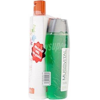 MUSSVITAL Pack solar F50 niños Pack 400+200 ml + Gel de aloe