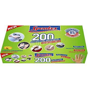 SPONTEX guantes finos multiusos talla única caja 200 unidades