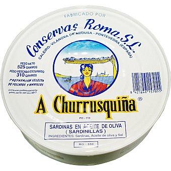 A CHURRUSQUIÑA Sardinillas en aceite de oliva lata 310 g neto escurrido