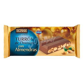 Hacendado Turrón de chocolate con almendra  Pastilla 250 g