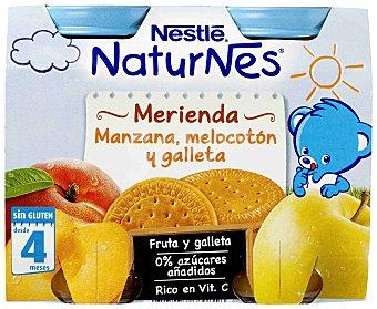 Nestlé Merienda de Manzana Melocotón y Galleta Tarro Pack2x200 gr