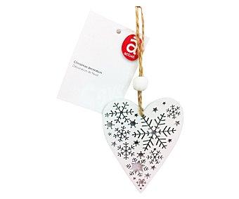 Actuel Colgante de madera con forma de corazon y estrella, de 9 centímetros, ACTUEL.