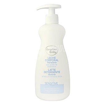 Carrefour Baby Leche corporal hidratante sensitive hipoalergénico con aceite de almendras 500 ml