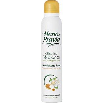 Heno de Pravia Desodorante glicerina te blanco piel sensible sin alcohol Spray 200 ml
