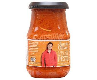 Jamie oliver Salsa pesto ajo y guindilla 190 gramos