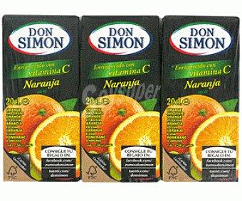 Don Simón Zumo de Naranja con Uva Pack 3 Unidades de 20 Centilitros