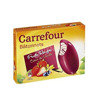 Carrefour Helado de frutas rojas y vainilla 4 ud 4 ud