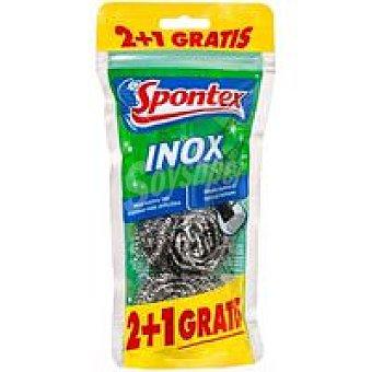 Spontex Estropajo Inox Reciclado 2+1