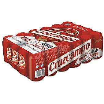 Cruzcampo Cerveza rubia nacional Pack 24 u x 33 cl