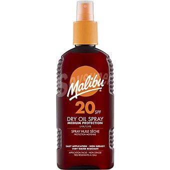 MALIBU Aceite protector solar seco FP-20 spray 200 ml