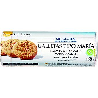 Special Line Galletas tipo María sin gluten Envase 185 g
