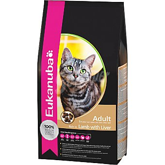 EUKANUBA ADULT alimento completo para gato adulto con cordero e hígado  bolsa 4 kg