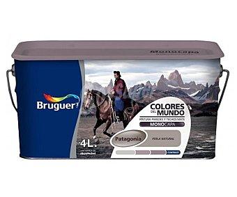 BRUGUER Pintura plástica de interior, color perla natural Patagonia, Colores del Mundo 4 L