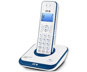 TELECOM 7243 Teléfono Inalámbrico Detc SPC Azul, Identificador de llamadas, manos libres, pantalla iluminada en azul, Agenda para 20 contactos.