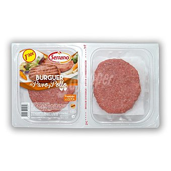 Serrano Hamburguesa de ave Bandeja 4 uds 350 gr