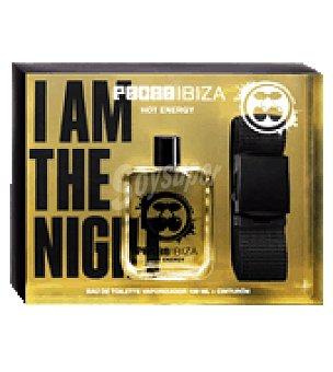 Pachá Ibiza Estuche colonia Hot Energy vaporizador 100 ml. + Cinturón 1 ud