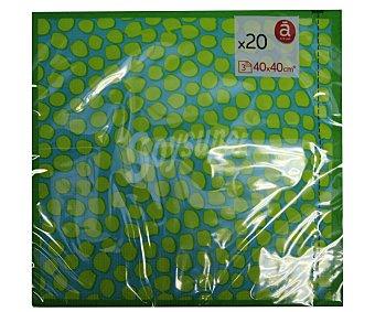 ACTUEL Servilletas de papel con estampado de pantera color verde, tres capas, 40x40 centímetros 20 unidades