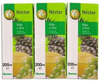 Productos Económicos Alcampo Néctar de Piña-Uva Brik 3 Unidades