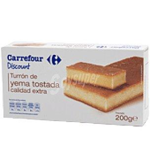 Carrefour Turrón de yema tostada - Sin Gluten 200 g