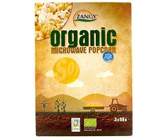 Zanuy Palomitas de maíz con sal para microondas Pack 3 unidades de 90 gr