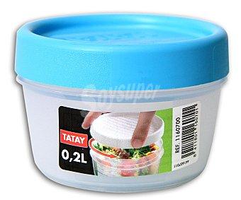 TATAY Taper con tapa de rosca en color azul, capacidad de 0.2 litros 1 Unidad