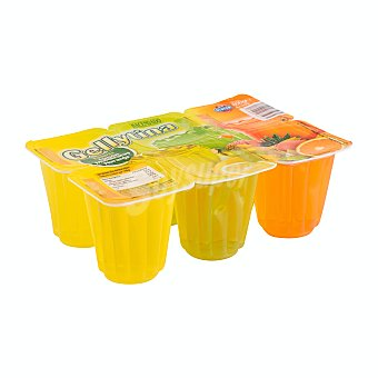 Hacendado Gelatina sabores (2 limón, 2 naranja, 2 multifrutas) Pack 6 ud x 100 g - 600 g