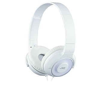 Jvc Auricular cerrado tipo casco con cable, color blanco HA-S220-W-E