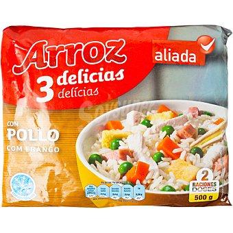Aliada Arroz tres delicias con pollo 2 raciones Bolsa 500 g