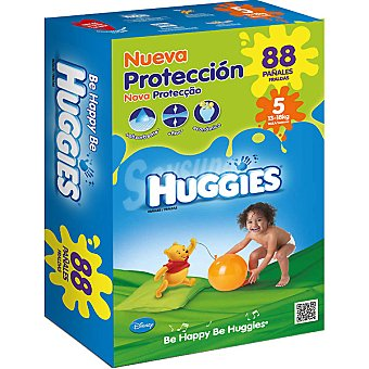Huggies Pañales Duo de 13 a 18 kg talla nueva protección 5 caja 88 unidades