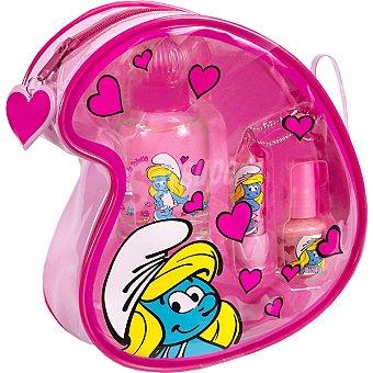 PITUFINA Estuche con eau de toilette infantil spray 50 ml + protector labial + esmalte de uñas Spray 50 ml