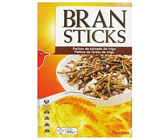 Auchan Cereales Bran Sticks (palitos de salvado de trigo con alto contenido en 7 vitaminas) 500 gramos